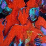 Julia Trops kelowna artist female nude acrylic painting